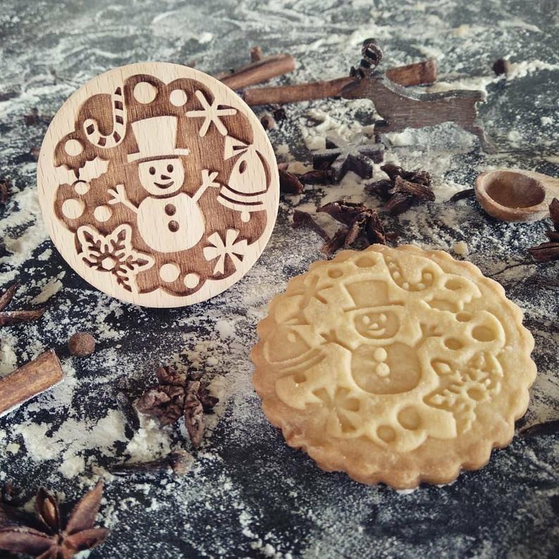 Razítko na sušenky - sněhulák