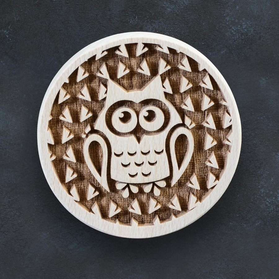Razítko na sušenky - sova
