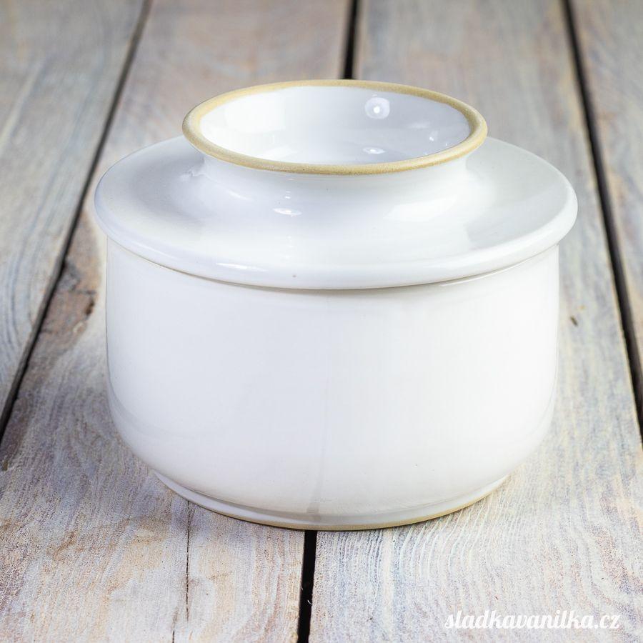 Máslenka s vodním filtrem - bílá