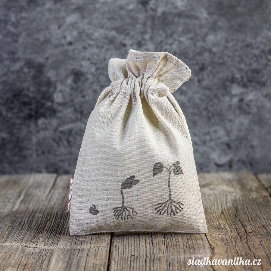 Lněný pytlík - růst fazole