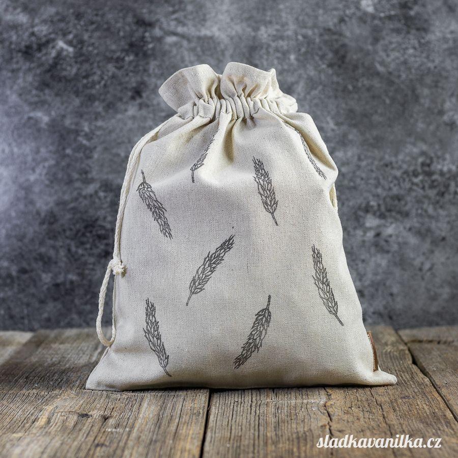 Lněný pytlík - klasy obilí