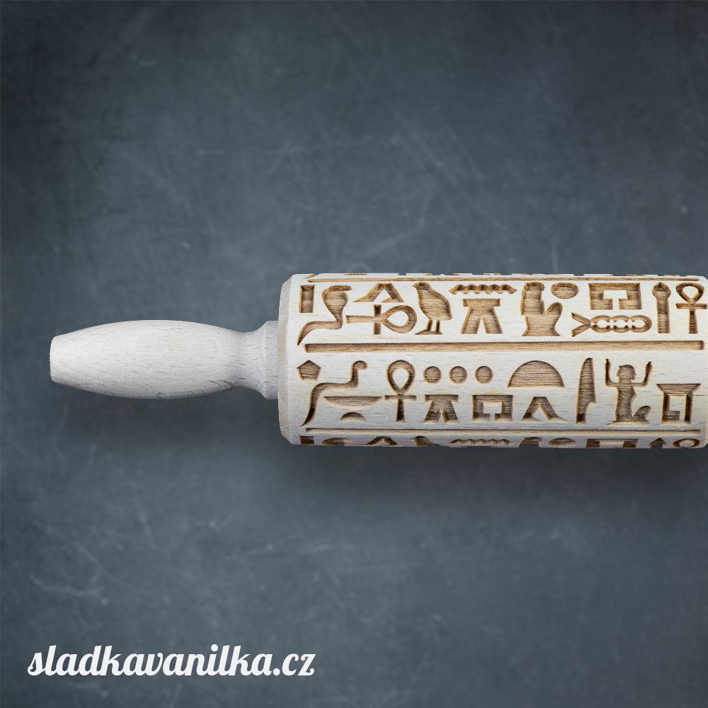 Malý embosovaný váleček - Egyptské hieroglyfy