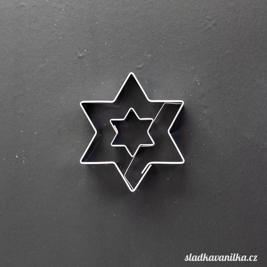 Vykrajovátko hvězda s hvězdičkou