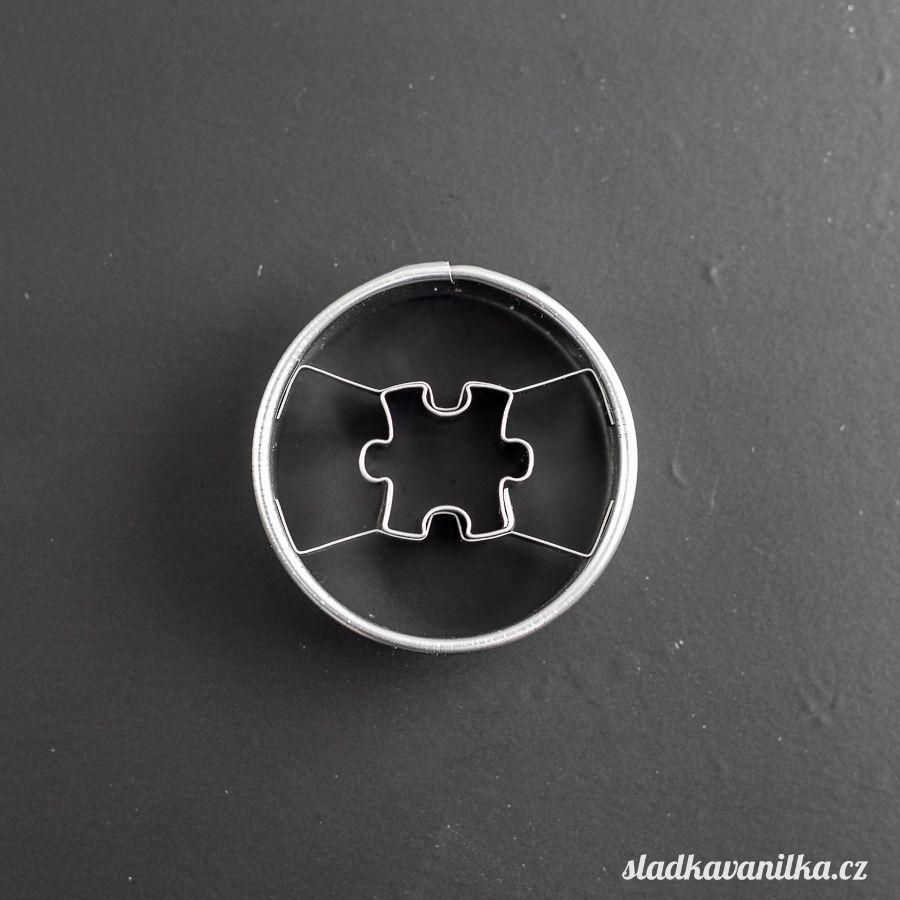 Vykrajovátko kolečko s puzzle