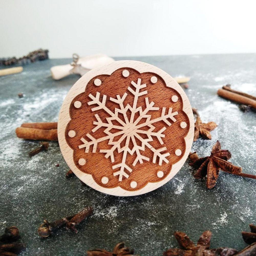 Razítko na sušenky - sněhová vločka