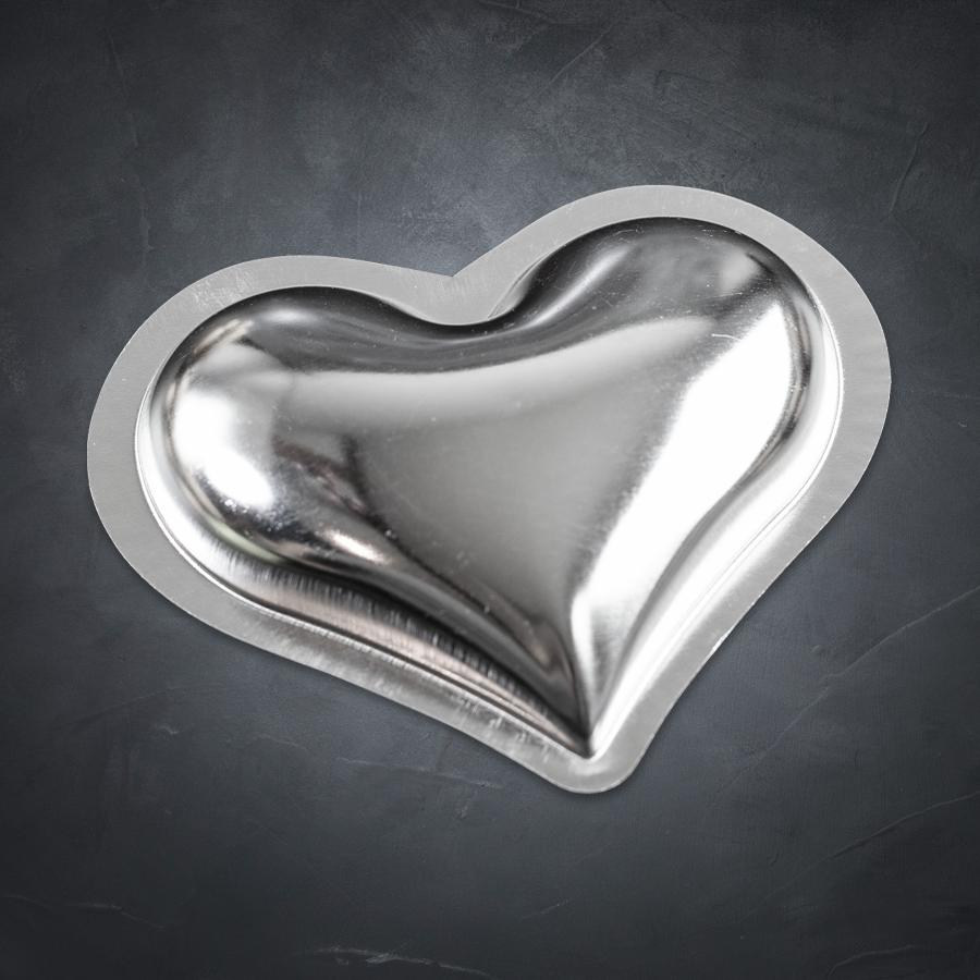 Formičky hladké srdce velké - 20ks