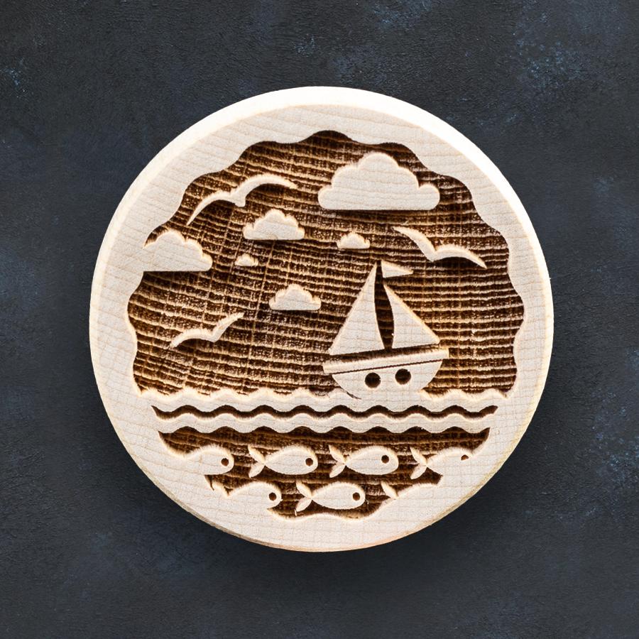 Razítko na sušenky - loďka na moři