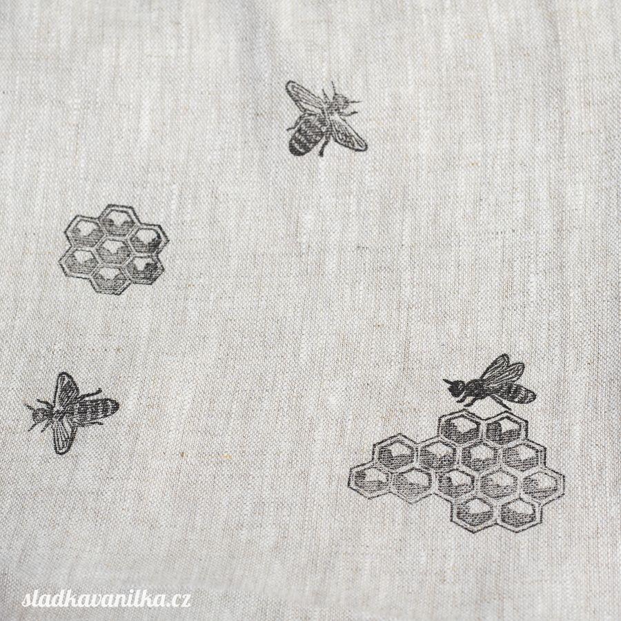 Lněný pytlík - včely