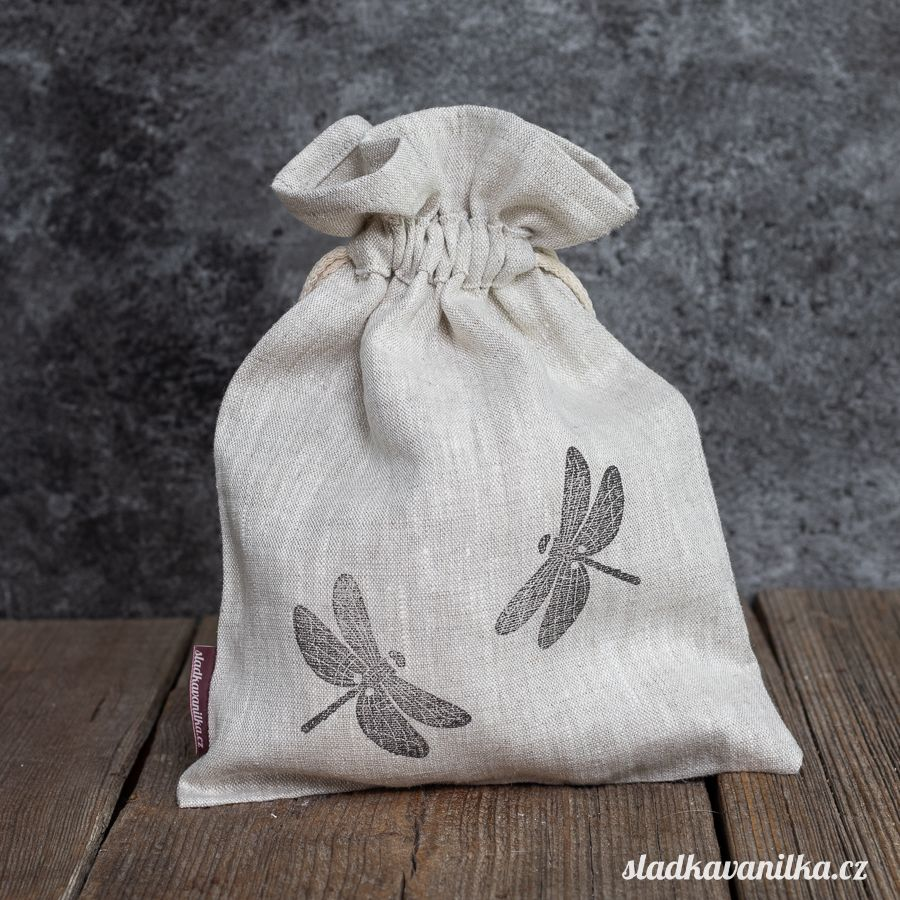 Lněný pytlík - vážky