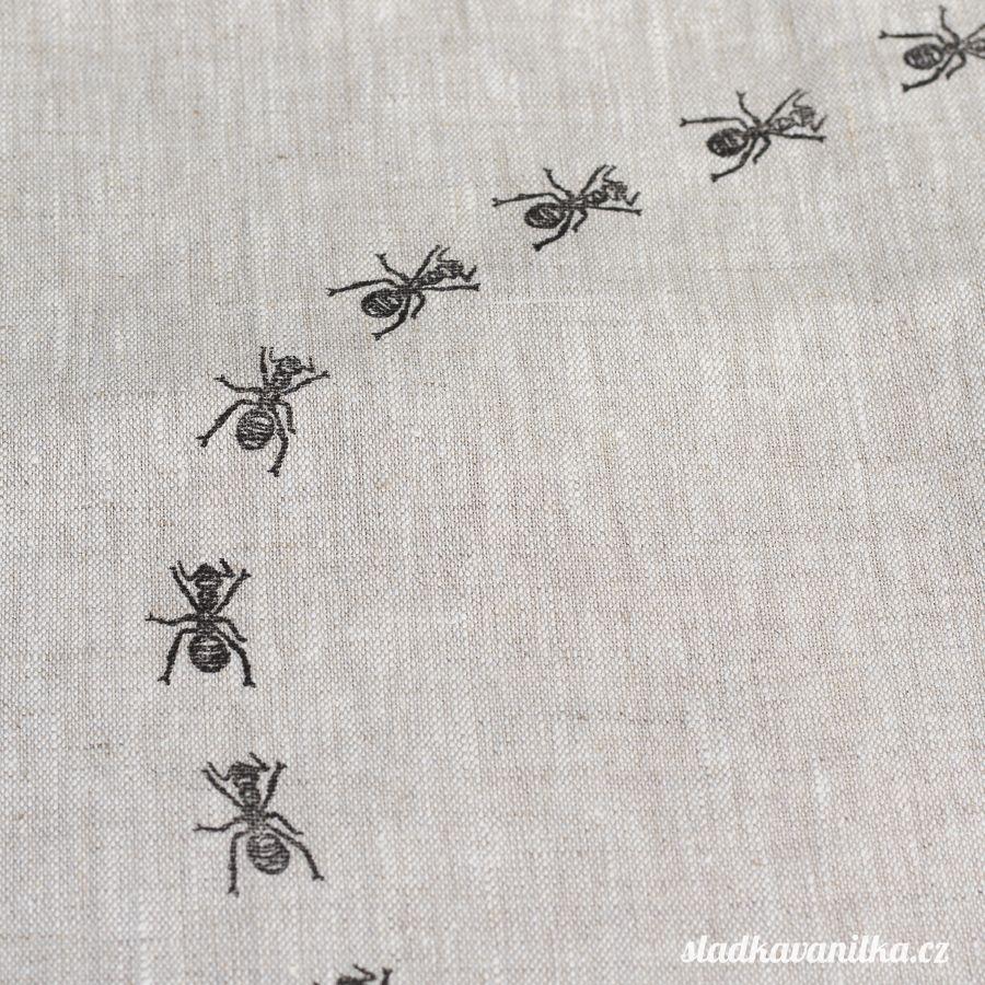 Lněný pytlík - mravenci