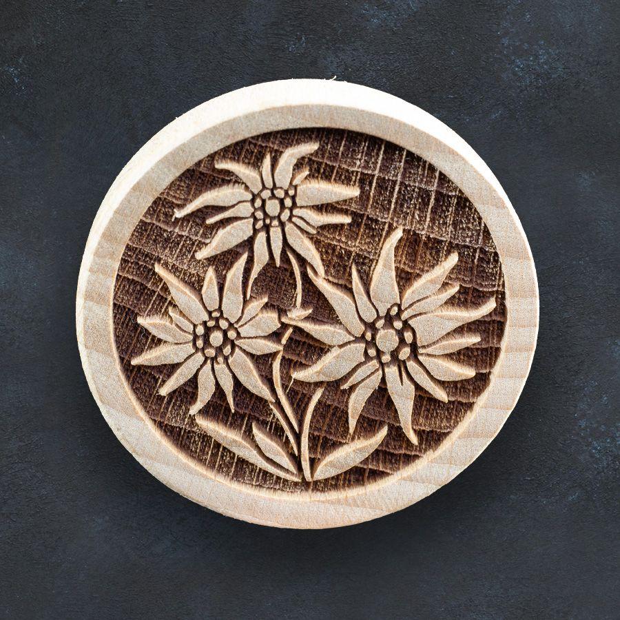 Razítko na sušenky - alpské květiny