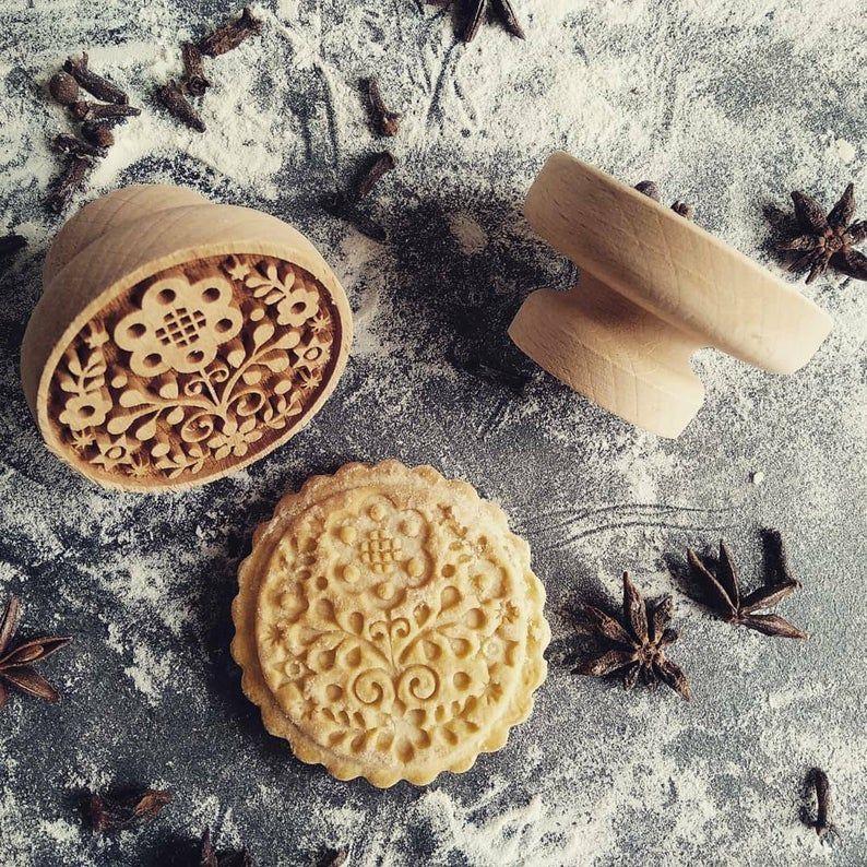 Razítko na sušenky - lidové květy