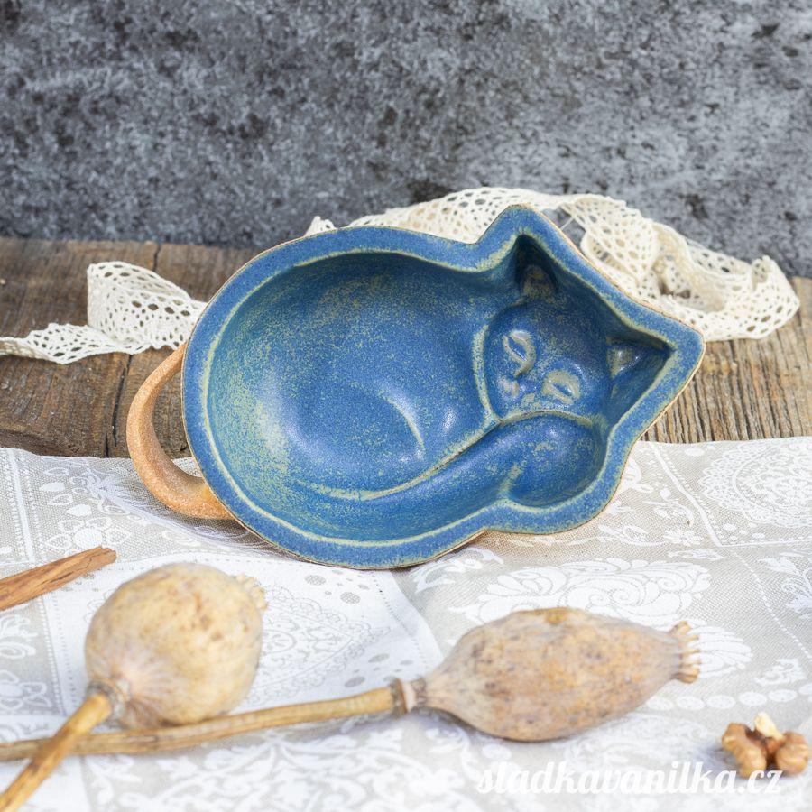 Kočička malá - keramická forma na pečení