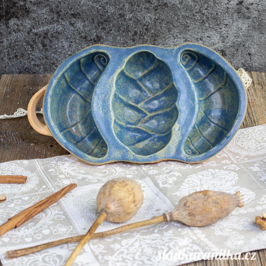 Belešník houska s rohlíky - keramická forma na pečení