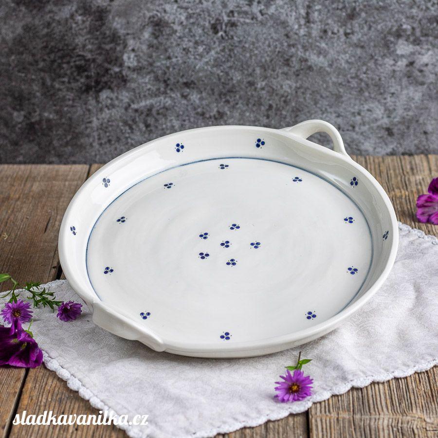 Porcelánový servírovací tác - trojtečka