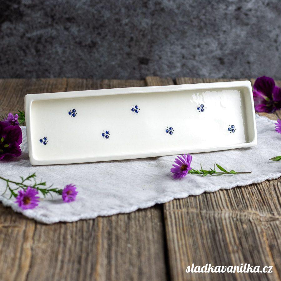 Porcelánový servírovací tácek - trojtečka