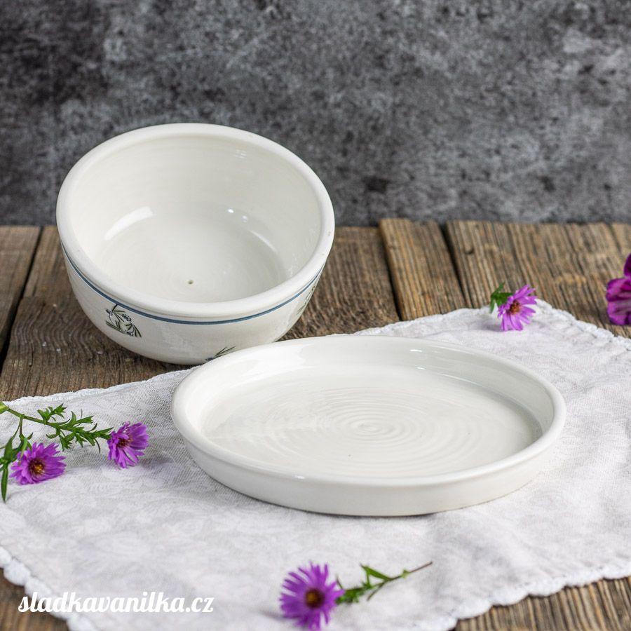 Porcelánová máselnice - boho