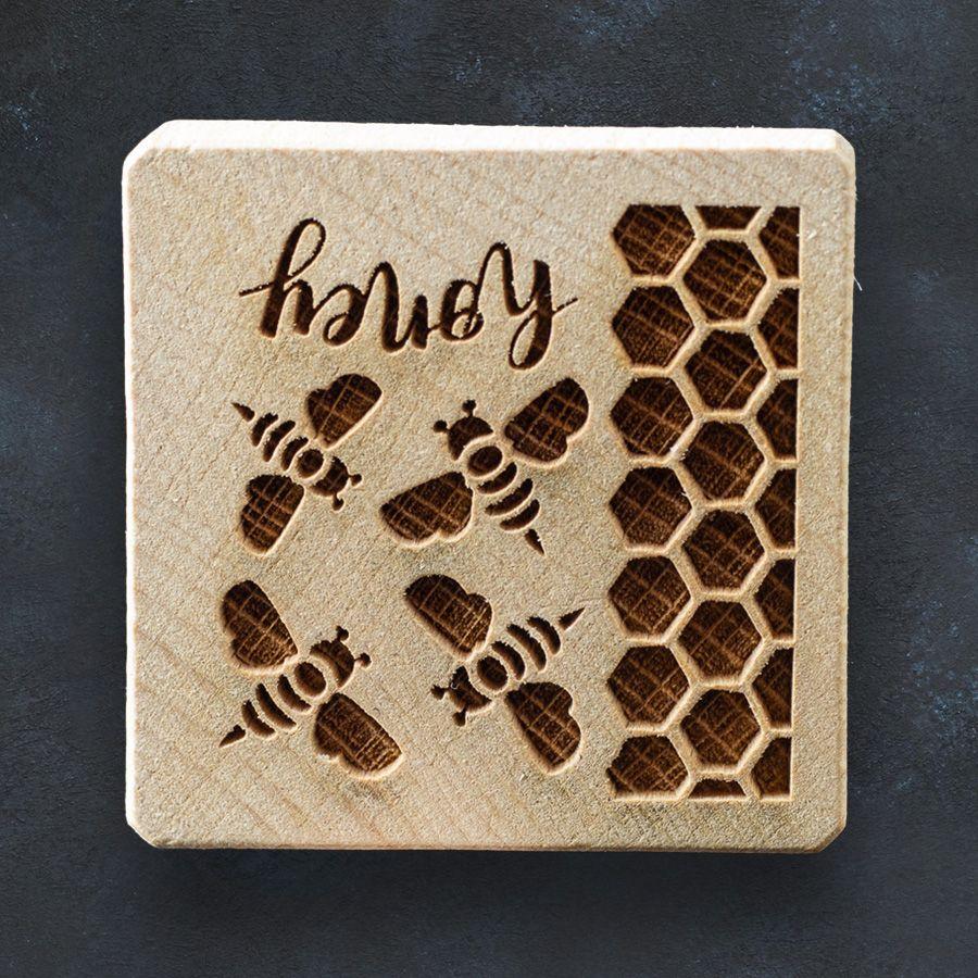 Razítko na sušenky - včely a med