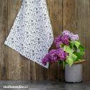 Mušelínová utěrka- bylinky na bílé