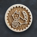 Razítko na sušenky - kočka s klubkem