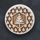 Razítko na sušenky - vánoční strom se stromečky