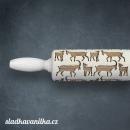 Malý embosovaný váleček- kozy