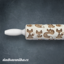 Malý embosovaný váleček - lišky